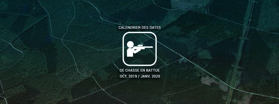 calendrier des dates de chasses en battue PNRA