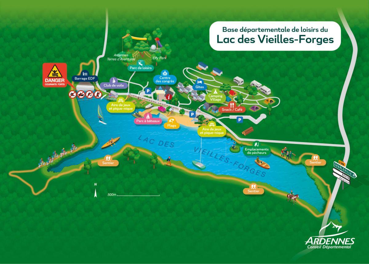 Emplacement lac des Vielles Forges